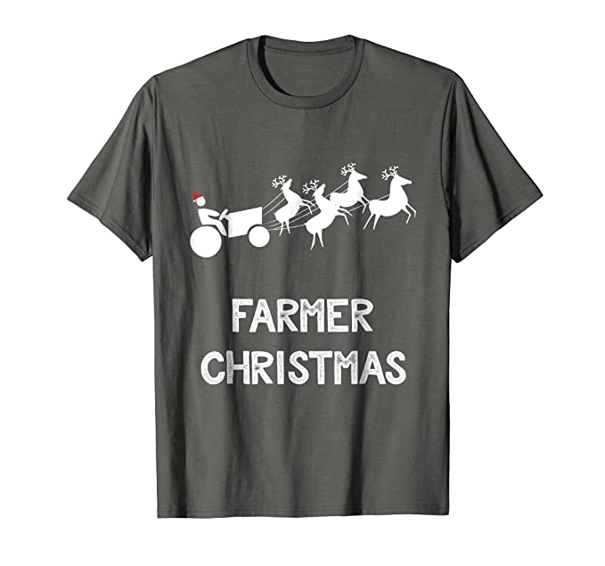mens funny farmer christmas shirt xmas gift ideas for farmers 2xl asphalt