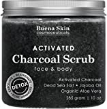 Amazon Price History for:The BEST Activated Charcoal Scrub 10 oz.- Pore Minimizer & Reduces Wrinkles, Blackheads & Acne Scars, & Anti Cellulite Treatment - Great Body & Face Cleanser by Buena Skin