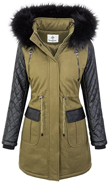 Parka Larga Rock Creek Chaqueta es Manga Mujer Para Amazon RxpSBw