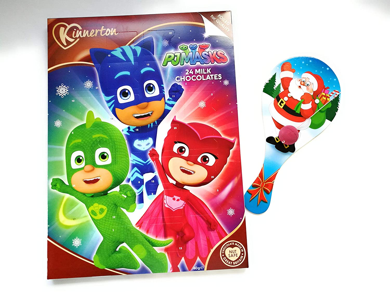 PJ MASKS 2018 CHOCOLATE ADVENT CALENDAR INCLUDING CHRISTMAS TOY Kinnerton