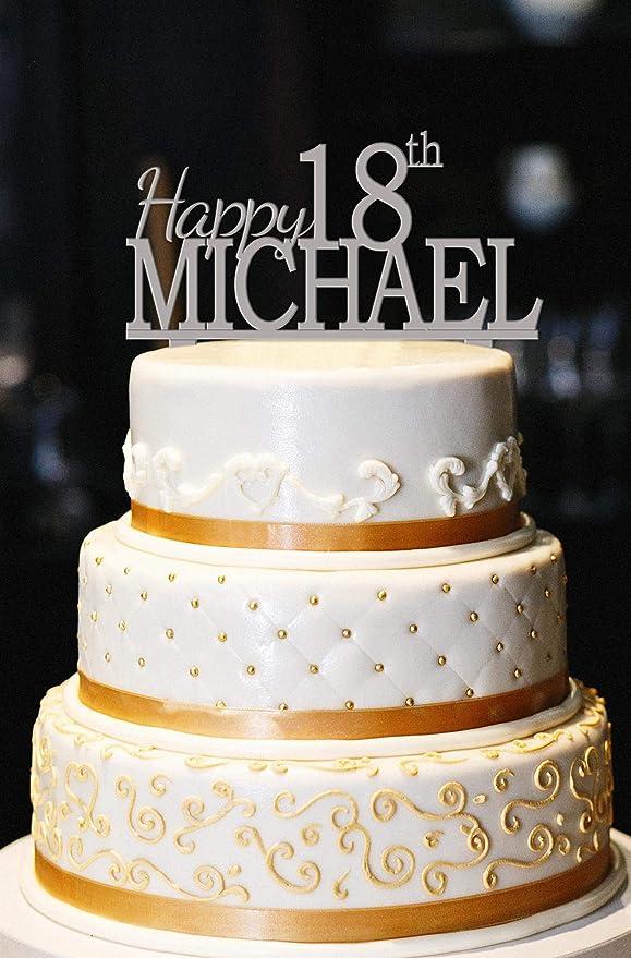 Adorno para tarta de cumpleaños de 18 años personalizable ...