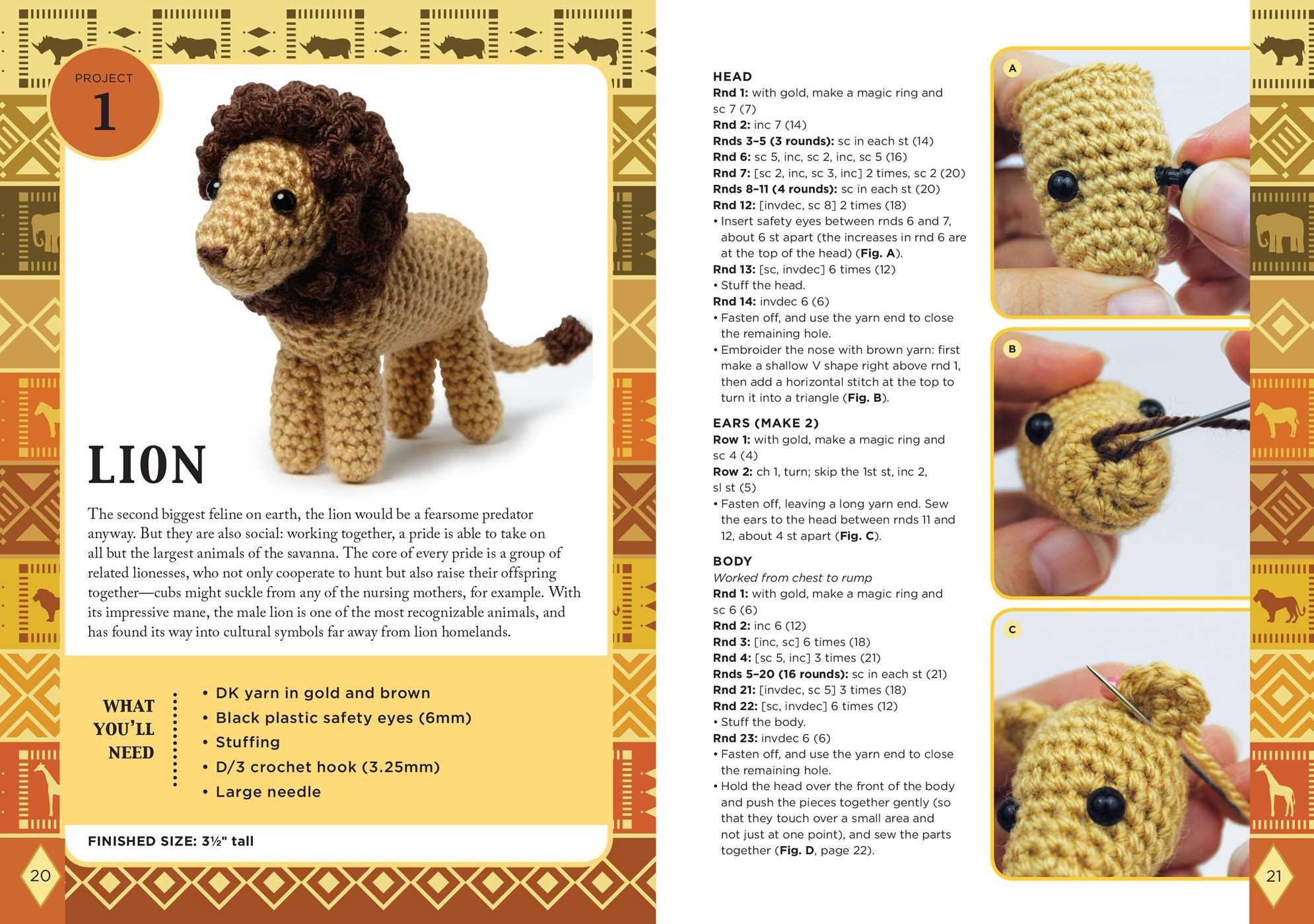 Little lion amigurumi - Amigurumi Crochet Animals - doitory - doitory | 1400x1990