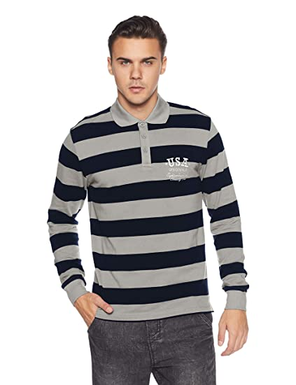 4086014a Jockey Men's Striped Regular Fit Polo: Amazon.in: Clothing & Accessories