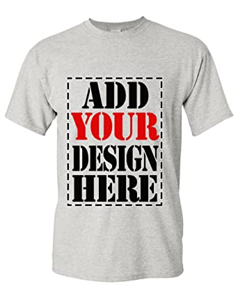 ed0334fd Design Your OWN Shirt Customized T-Shirt - Add Your Picture Photo Text Print