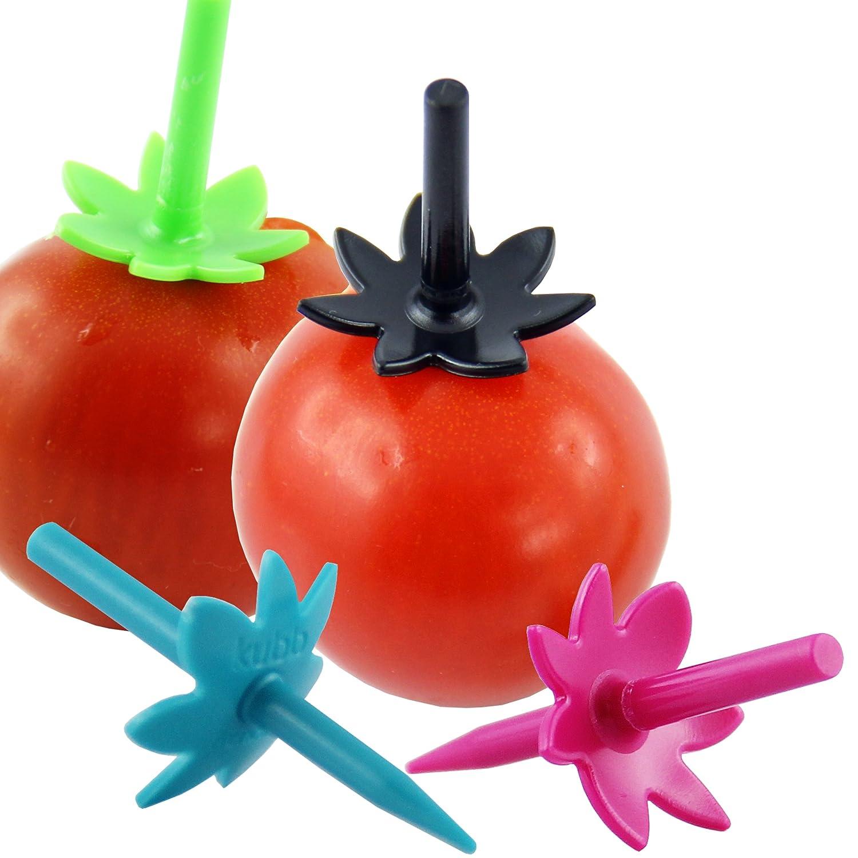 Kubb Pics ap/éritif r/éutilisables X20 pour tomates cerises Fuchsia