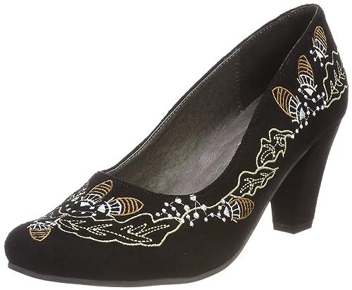 3545706, Zapatos de Tacón con Punta Cerrada para Mujer, Negro (Schwarz/Kombiniert 098), 41 EU Hirschkogel