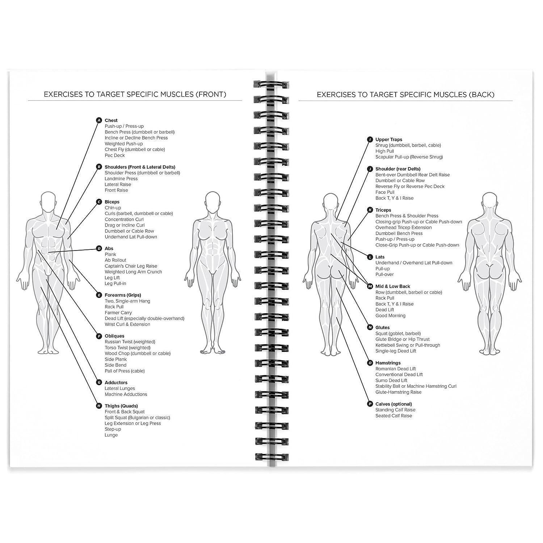 Amazon.com : Workout Log Book & Fitness Journal - 25-Week Designed ...
