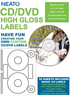 Amazon Neato High Gloss Cd Dvd Labels 40 Pack 20 Total