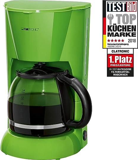 Clatronic KA 3473 Cafetera eléctrica de Goteo automática, máquina café de Filtro Capacidad 12 a 14 Tazas, 1,5 litros, función de mantenedora Calor, ...
