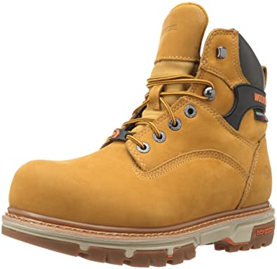 Wolverine Men's Nation 6 Inch Insulated Waterproof Comp Toe Work Shoe, Wheat,  ...