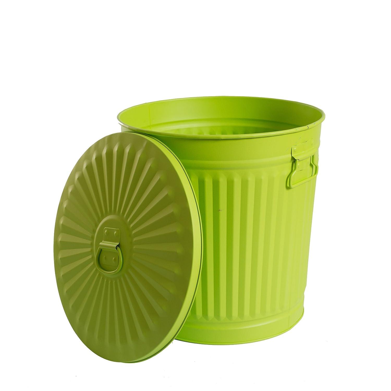 altezza 21,5 cm 7 litri Piccoli bidoni della spazzatura con manici Beige /Ø 21,5 cm
