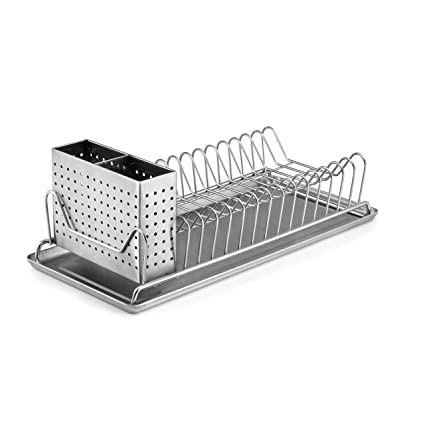 Amazon Com Polder 6115 75 Compact Stainless Steel Dish Rack With