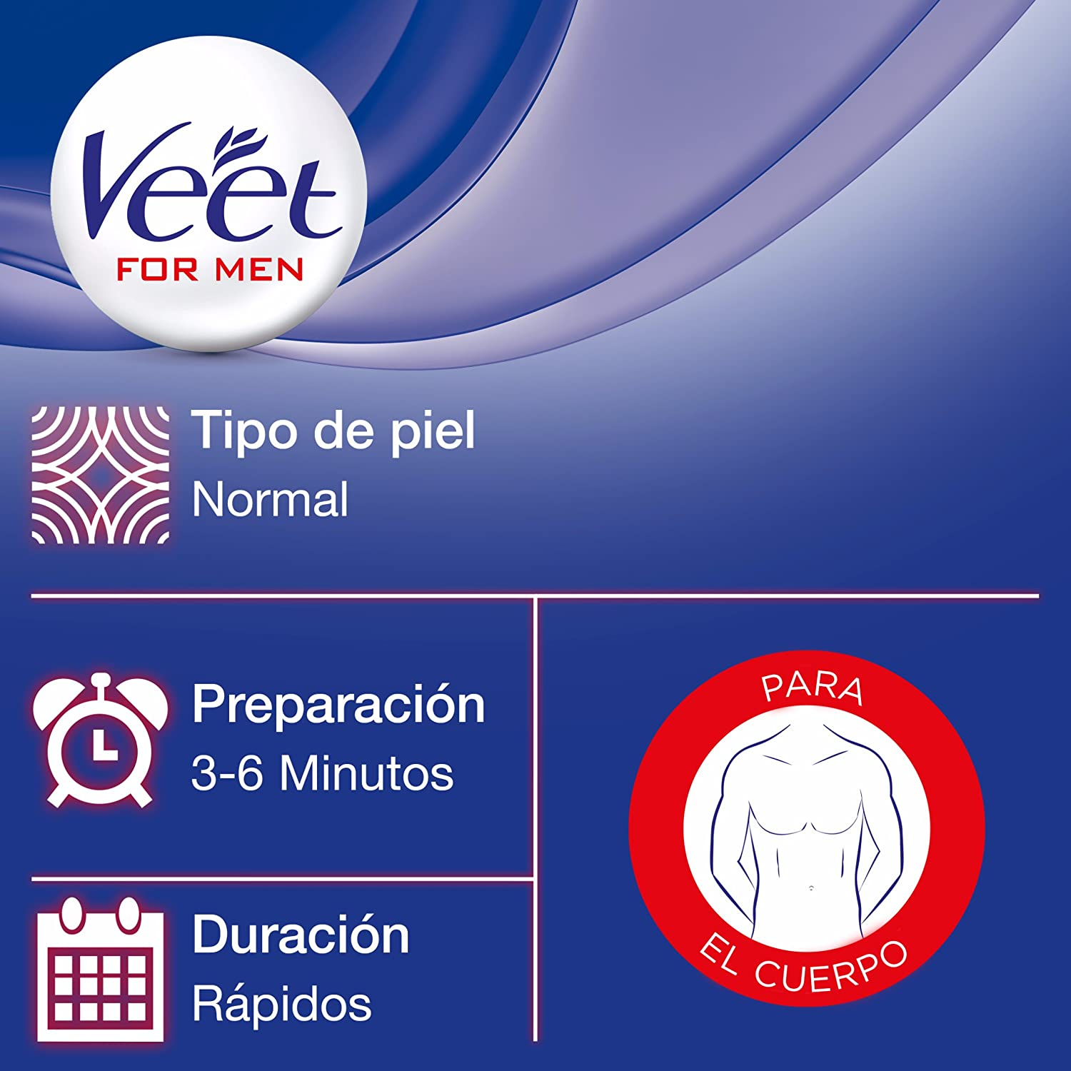 Veet for Men Crema depilatoria en Spray para hombre, Piel Normal, 150 ml: Amazon.es: Belleza