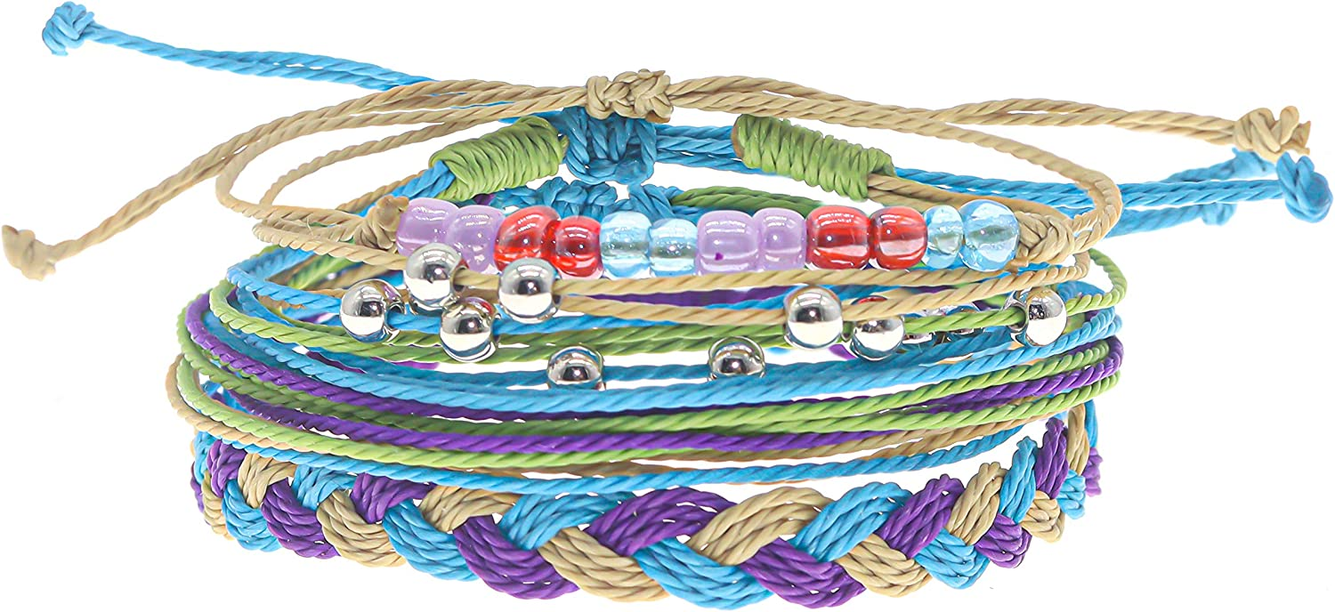 Kids Jewelry Birthday Present Adjustable String Bracelets by RUMI SUMAQ Purple and Silver Cord Gift for Girls Valentines Day Gift Friendship Bracelet in Hot Pink