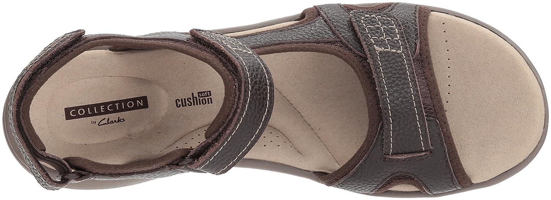 CLARKS Women's Saylie Jade Sandal B074CJ8TTS 8.5 B(M) US|Brown Tumbled Leather