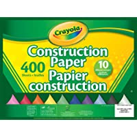 Crayola 400 Pages Construction Paper Pad, School and Craft Supplies, Teacher and Classroom Supplies, Gift for Boys and Girls, Kids, Ages 3,4, 5, 6 and Up, Arts and Crafts, Easter Basket Stuffers, Easter Gifting