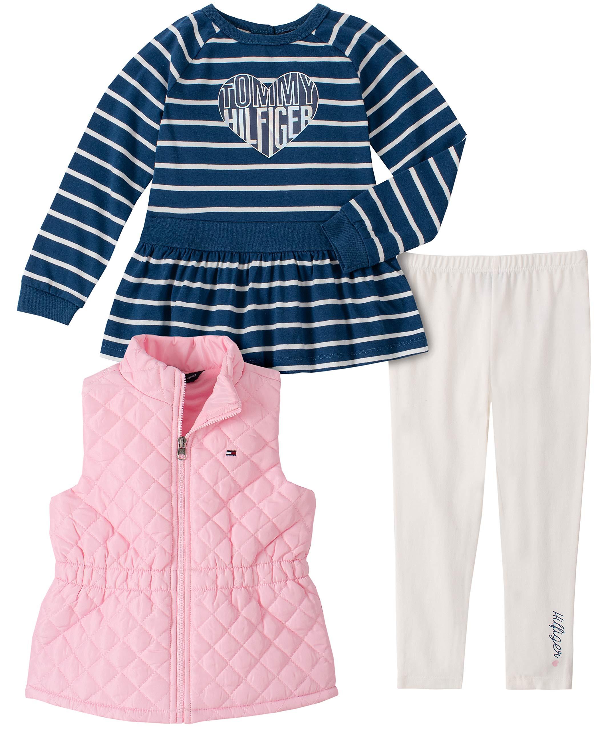 Tommy Hilfiger Baby Girls' 3 Pieces Vest Pants Set