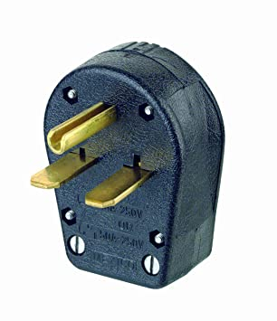 leviton 931 30 50 amp 250 volt plug angle grounding black rh amazon com