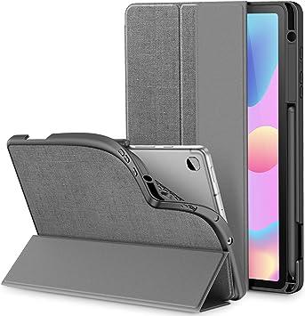INFILAND Funda para Galaxy Tab S6 Lite con S Pen Holder, Delgada TPU Case Smart Cascara con Auto Reposo/Activación Función para Samsung Galaxy Tab S6 Lite 10.5 P610/P615,Gris: Amazon.es: Electrónica
