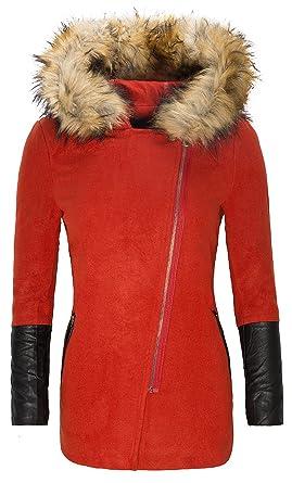 Damen Wollmantel Winter Übergangsjacke Parka Coat Outdoor lFJc1K