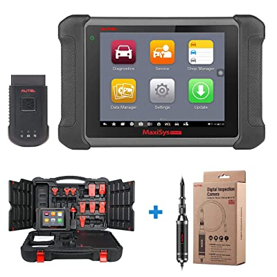Autel Maxisys MS906BT Automotive Diagnostic Tool with OE-level Diagnostics, ECU Coding, Oil Reset Service, TPMS, EPB, ABS/SRS, SAS, DPF, Bi-Directional Control, Upgraded Version of MS906: Automotive
