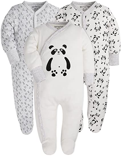 8bb280a6b Amazon.com  Baby Pajamas Baby Girls and Boys Long Sleeve Romper 0 ...