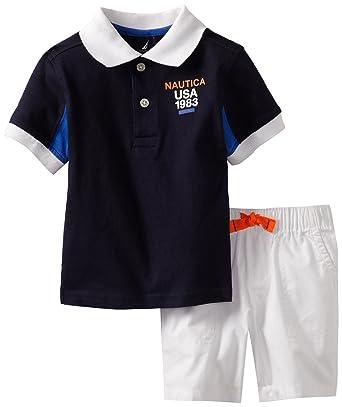 Nautica Boys Toddler Short Sleeve Solid Polo