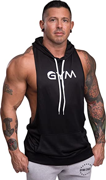 Men/'s Fitness Muscle Hooded Sleeveless Fashion Gyms Bodybuilding Tank Top Vest