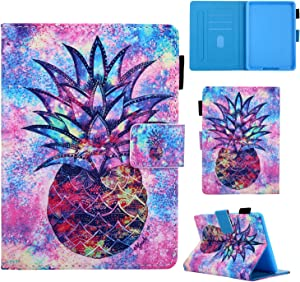 Cute Folio Case for Kindle Paperwhite 10th/7th/6th/5th Generation, Techcircle Lightweight Protective Cover with Card Slots, Auto Sleep Wake, for Paperwhite 2018/2015/2013/2012, Pineapple