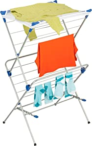 Honey-Can-Do DRY-01104 2-Tier Mesh Top Premium 40-Inch Drying Rack, Silver