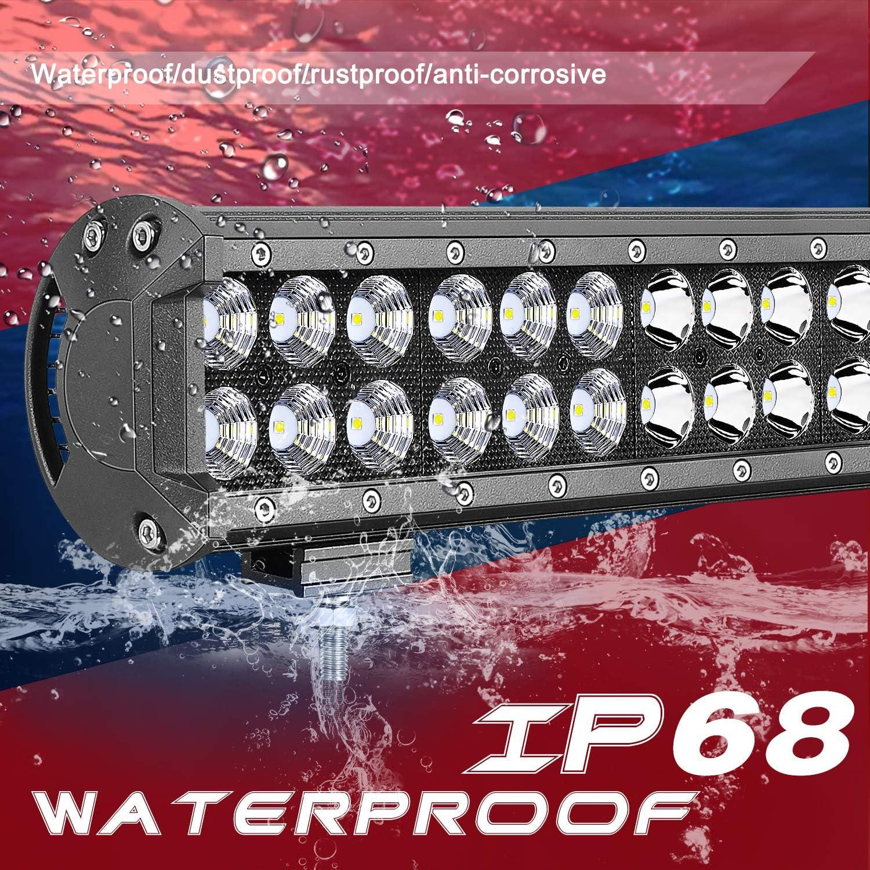 LED Light Bar SWATOW 4/×4 30 inch Off Road Driving Light 180W CREE LED Work Light Dual Row LED Bar Spot Flood Combo Light Fog Light for Truck ATV UTV Boat