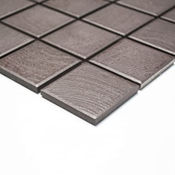 Fliesen Mosaik Mosaikfliese Keramik Küche Boden Bad WC Braun Matt 6mm Neu  #260