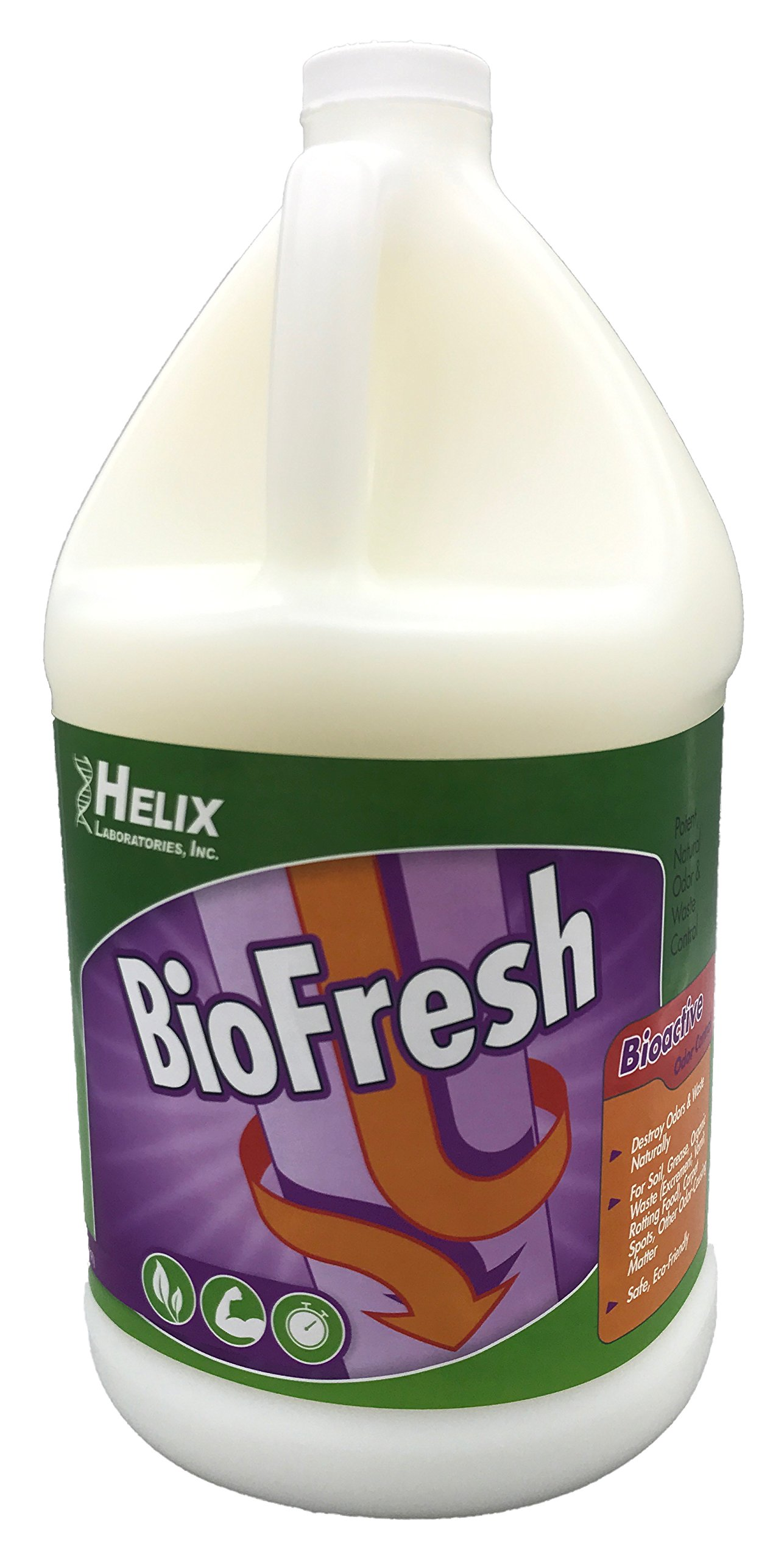 BioFresh - Enzyme Drain Cleaner & Odor Eliminator. Deodorizes and Unclogs Smelly Garbage Disposals, Washing Machines and Slow Drains. Super Concentrate w/Pleasant Fragrance (1 Gallon)