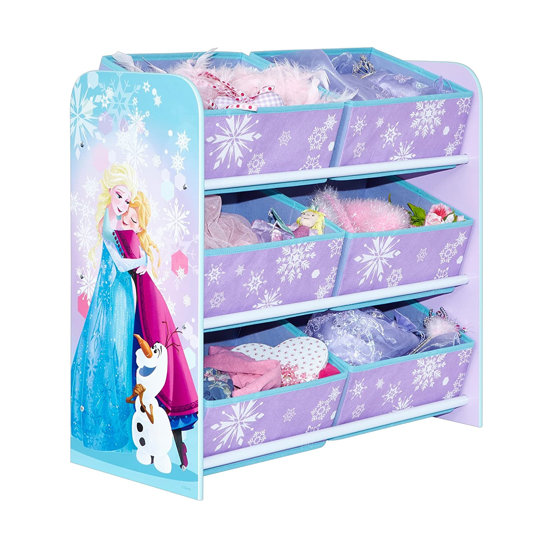 Disney Frozen Kids Bedroom Storage Unit with 6 Bins by HelloHome Worlds Apart 471FRN