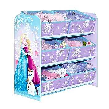 disney frozen bedroom in a box. disney frozen kids bedroom storage unit with 6 bins by hellohome in a box