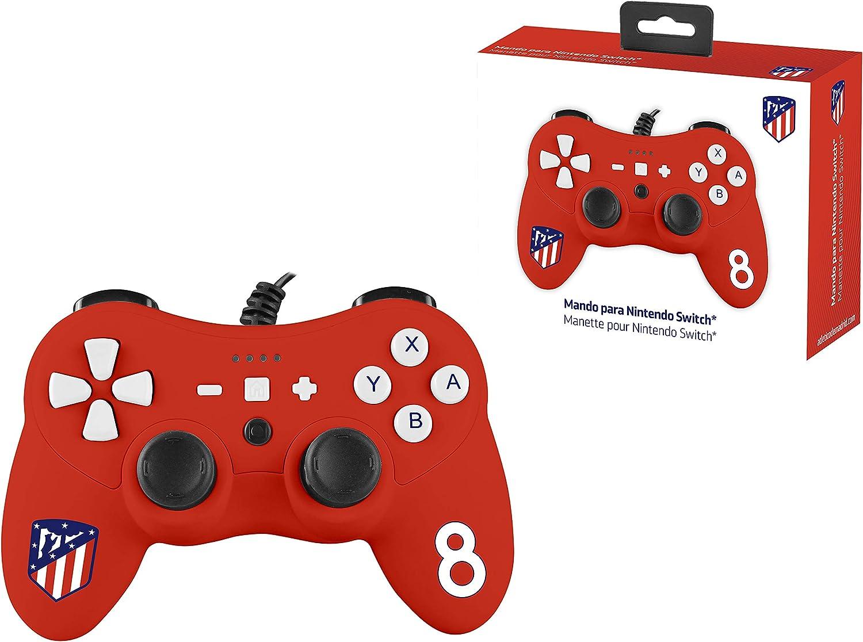 Mando controller para Nintendo Switch, con cable, Atlético De Madrid: Amazon.es: Videojuegos