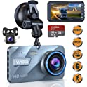 "Yundoo 4"" IPS Screen Dual Wide Angle Lens Car Dash Camera"