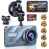 "Dual Dash Cam Car Camera - Contain 32GB SD Card,Full HD 1080P Dash Camera for Cars,4""IPS Screen Dual Wide Angle Lens Car Dash Camera,G-Sensor,Cycle Recording,Parking Monitoring.(2020 Upgraded Version)"
