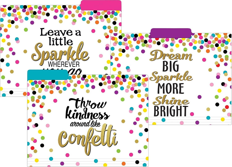 Teacher Created Resources Confetti File Folders