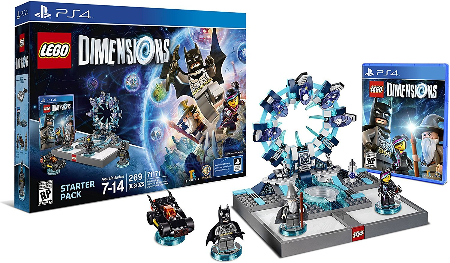 Lego Dimensions Starter Pack for Playstation 4 / PS4 or PS4 PRO Console