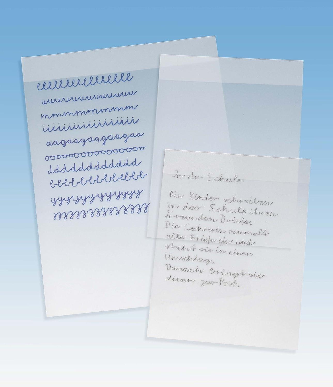 colore trasparente opaco Foglio in PVC per esercizi formato DIN A4 Veloflex 0440091 10 pezzi cancellabile