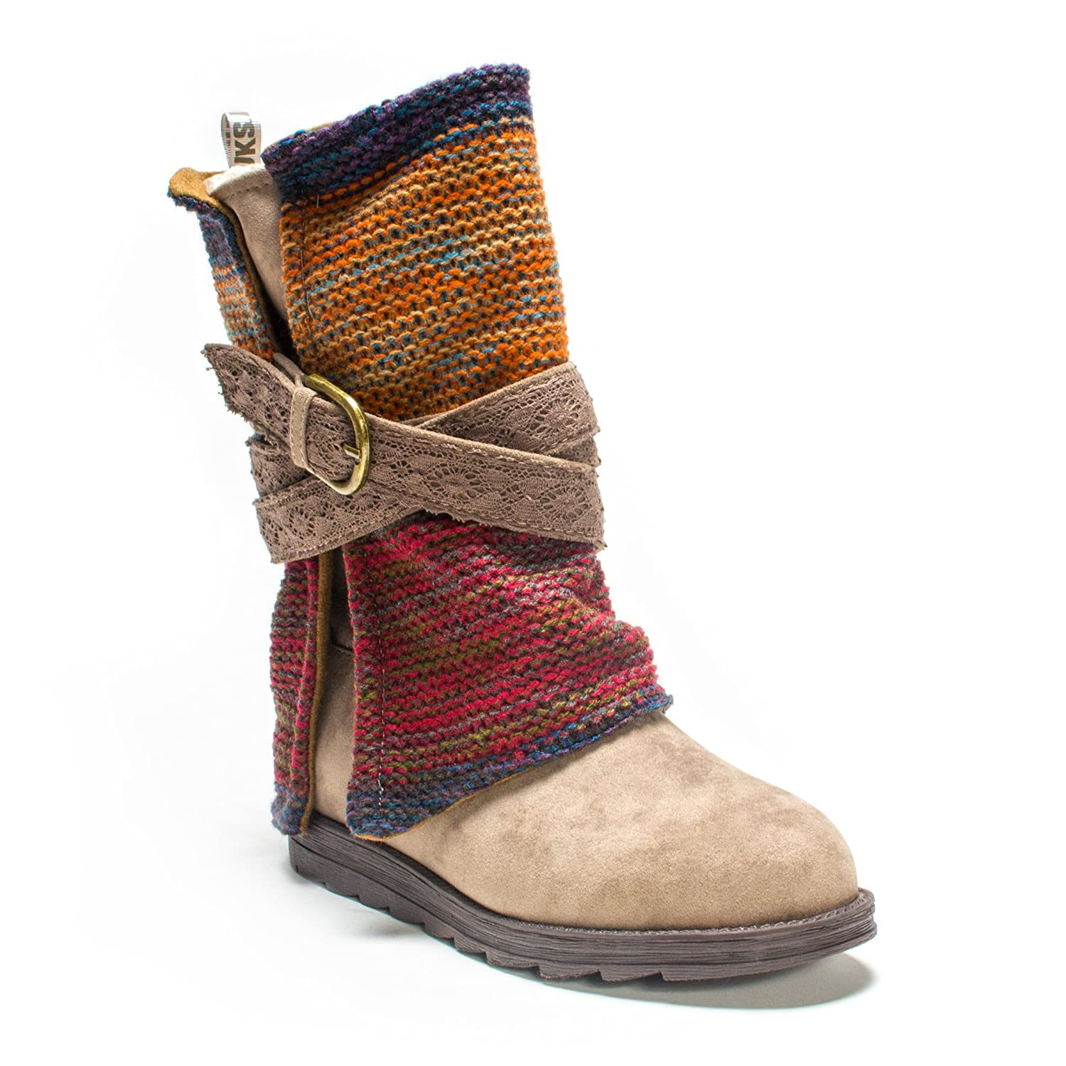 MUK LUKS Women's Nikki Belt Wrapped Boot B00K71QXMQ 7 B(M) US|Medium Beige