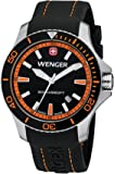 Wenger Seaforce Men's Quartz Watch with Black Dial Analogue Display and Black Silicone Strap 010641102