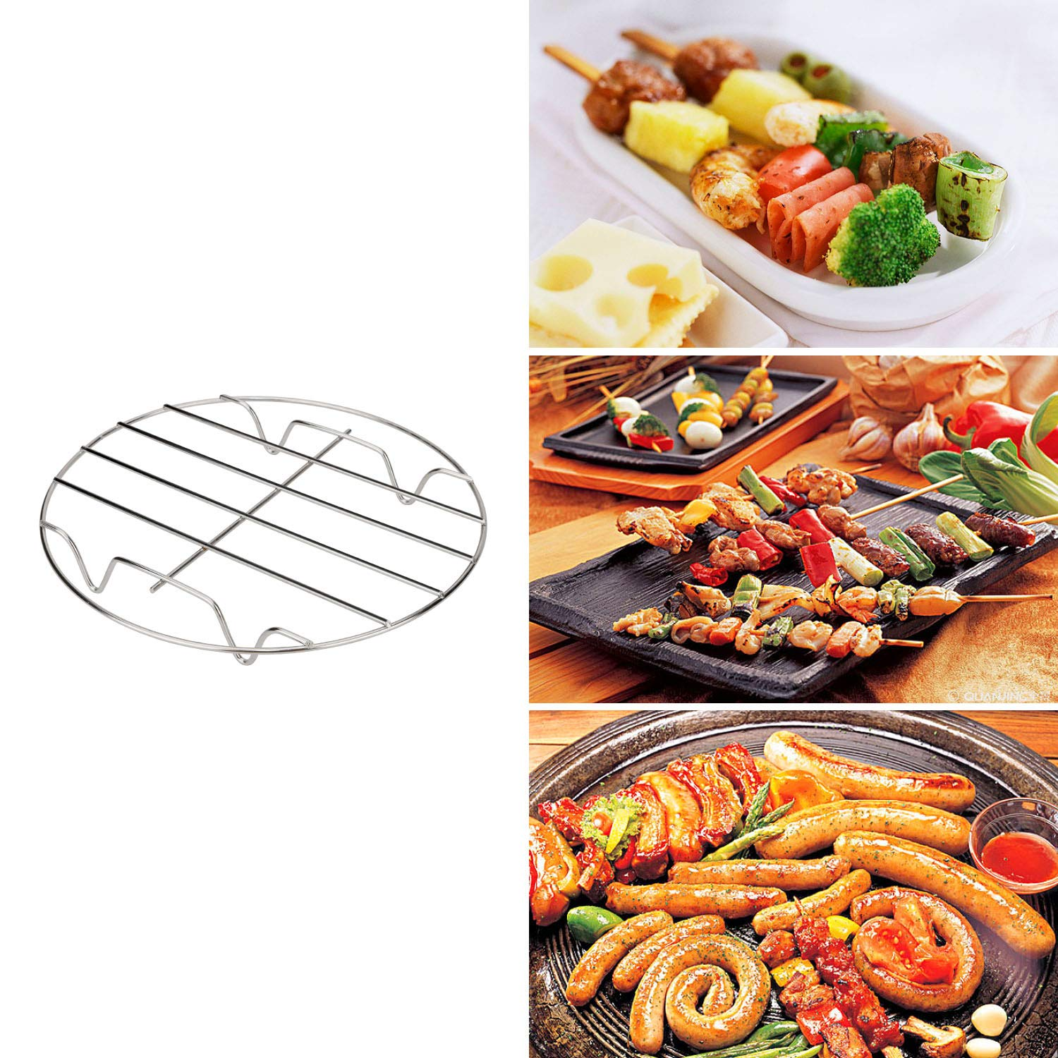 8 Inch Air Fryer Accessories Set, Compatible with Ninja Power Philips Gowise Cosori 5.3qt - 5.8qt, Xl Airfryer Accessory For Barbecue Baking with Cookbook