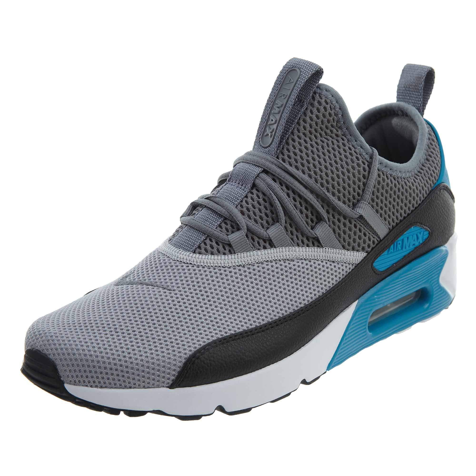 Nike Air Max 90 EZ Mens AO1745 004 Laser Blue Grey Black Running Shoes Size 12