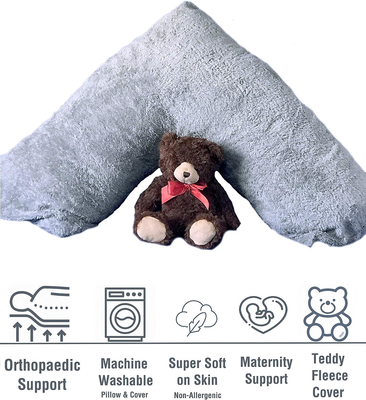 Teddy Bear Flece Soft V Pillow /& Pillow Maternity Orthopedic Support Pillow Only
