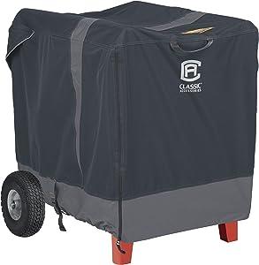 Classic Accessories 52-227-061001-ECStormPro Waterproof Heavy-Duty Generator Cover, Fits generators up to 7,000 watts, 38 x 28 x 30 in,Grey,XX-Large