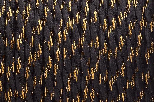 2 CORE 0,75 mm schwarz und gold Streifen – Antik geflochten Twisted ...