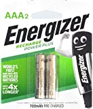 Energizer AAA Rechargeable Power Plus Batteries (1 pack of 2 pcs)