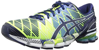 new arrival 309d2 93d82 ASICS Men s Gel-Kinsei 5 Running Shoe,Flash Yellow Blue Depths White